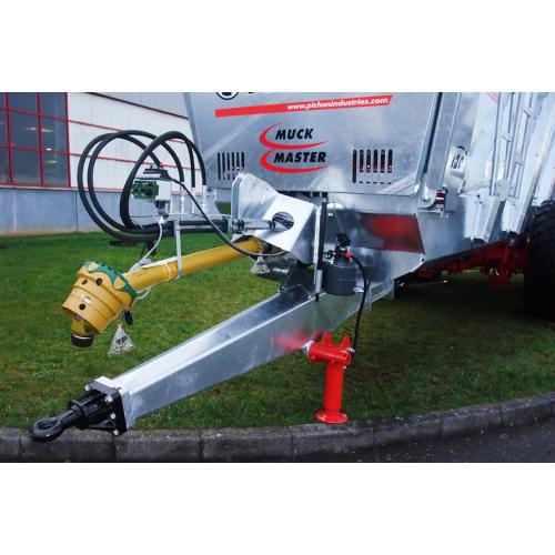 Hydrauliskt stödben med manuell pump