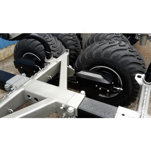 Bogie MF1050 Airbrake 4-wheel brake, 70x70 axel